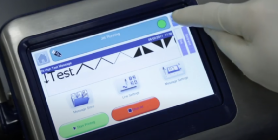 Touch screen with rubber glove